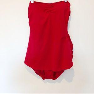 Vintage Vibrant Red Swimsuit Sz14
